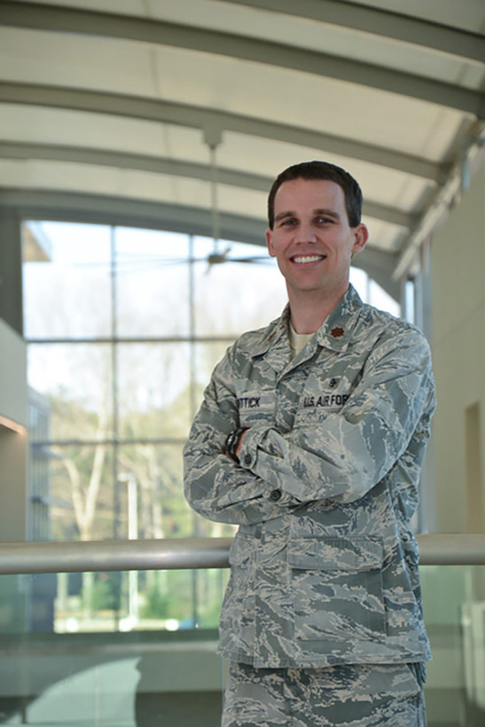 Maj. Travis Wittick, a Reserve Citizen Airman assigned to the 916th Aerospace Medical Squadron, Seymour Johnson Air Force Base, North Carolina