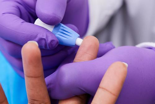 Finger Stick Blood test